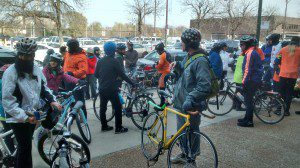 Or just go for a ride with a bunch of new friends! This is a SlowRoll ride from the west side to the lake... getting more folks on bikes and better bike access and infrastructure for the south and west sides. Yes!